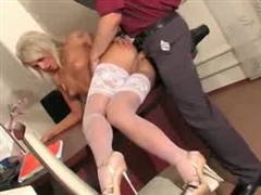 Hot Naked Russian Blonde Girl Fucked in the Ass