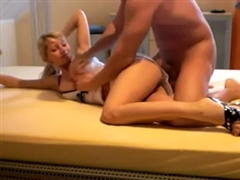 Super Sexy Blonde German Girlfriend Fucked Hard