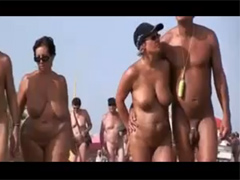 Nudist Couples Filmed on the Beach Making Sex!