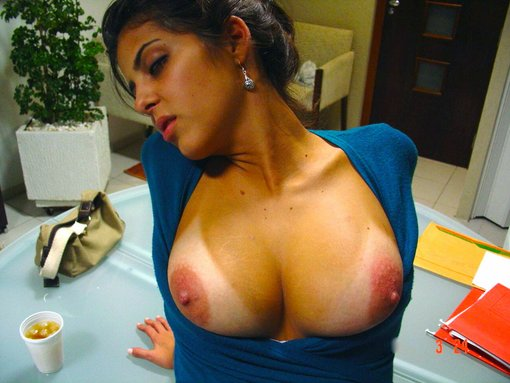 Topless Nude Secretary at the Office