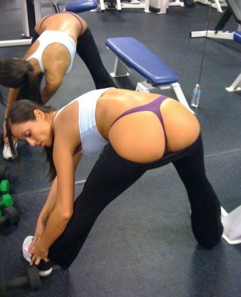yoga Girls mature amateur pants in
