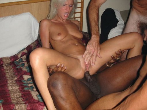 Interracial anal sex blonde fucked in the ass by BBC