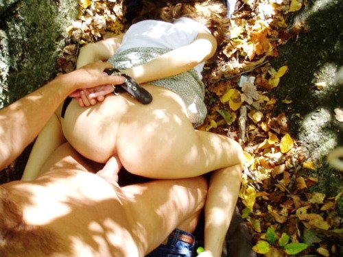 Wife Tied up and Fucked in the Ass in the Woods