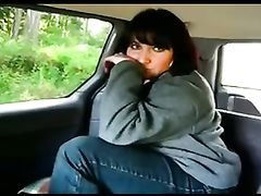 Woman with Big Ass in the Car Agrees to Fist Her Butthole