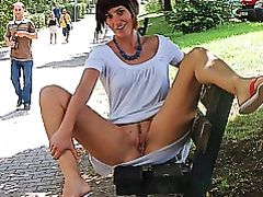 Wife Flashing Pussy in Public Park