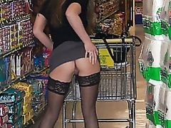 Amateur Wife Flashing in Public Store
