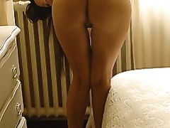 Nude Ass Girl Bending Over for Camera