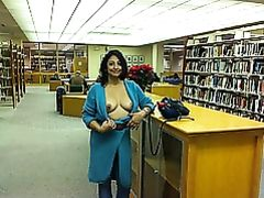 Exhibitionist Wife Flashes Tits in Public Library