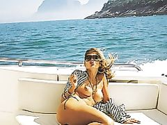 Nude Topless Wife on the Boat