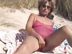 Hairy Mature Wife Naked at the Beach