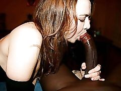 White Girl Sucking a Big Black Dick