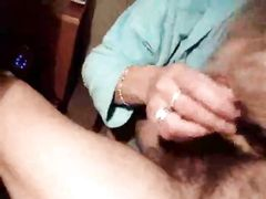 Wife Warms Up the Cock to Get It in Her Ass