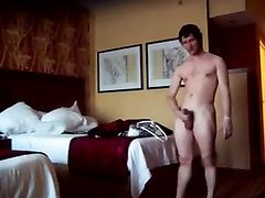 Hot Girlfriend in Hotel Room Fucks with Young Stud