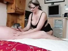 Mature Granny with Big Tits Blows Cock
