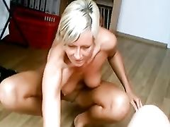 Lucky Dude Fucks Hot Mature German Blonde Woman
