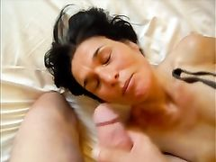 Granny sex and facial cumshot